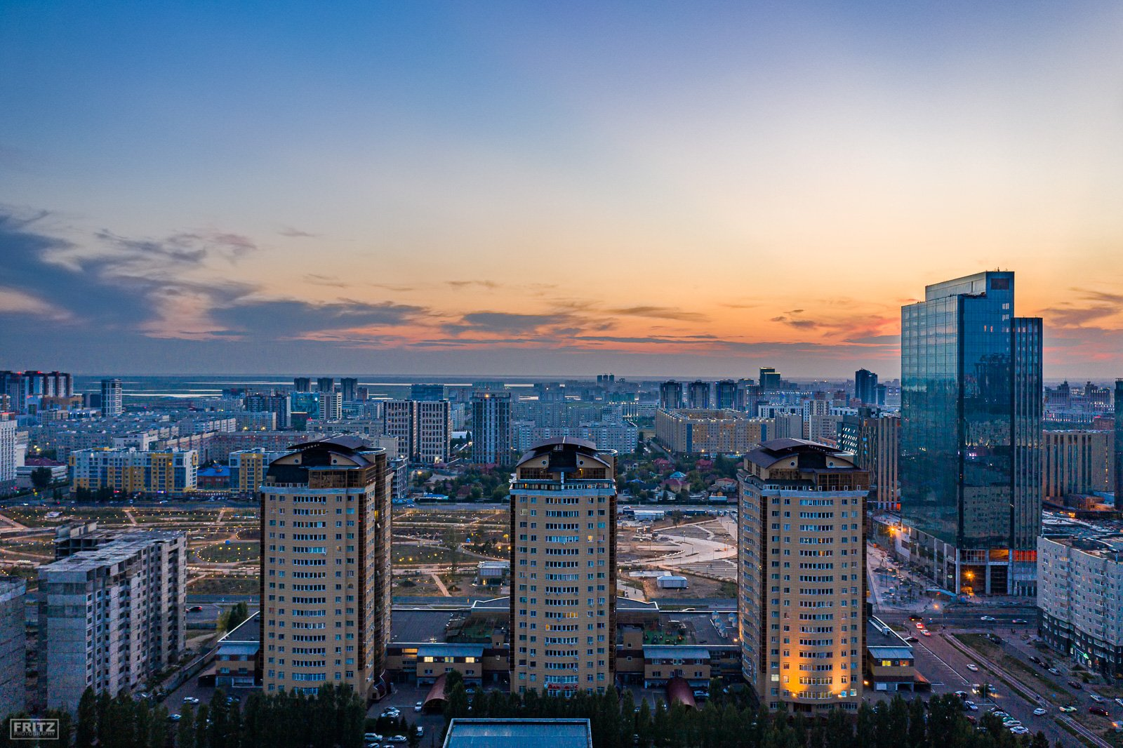Architecture. Astana. Drone Photography
