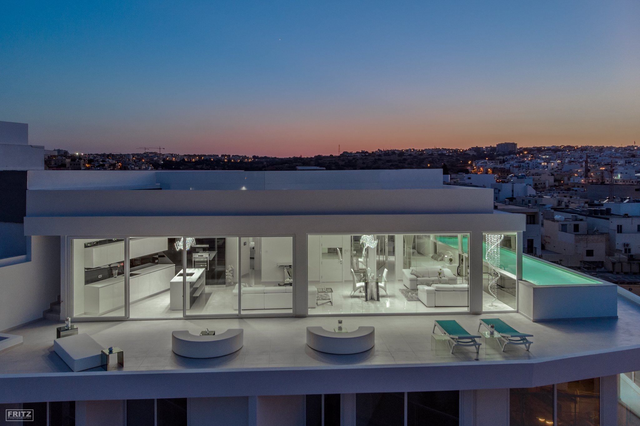 Architecture. Malta Penthouse. Drone Photography